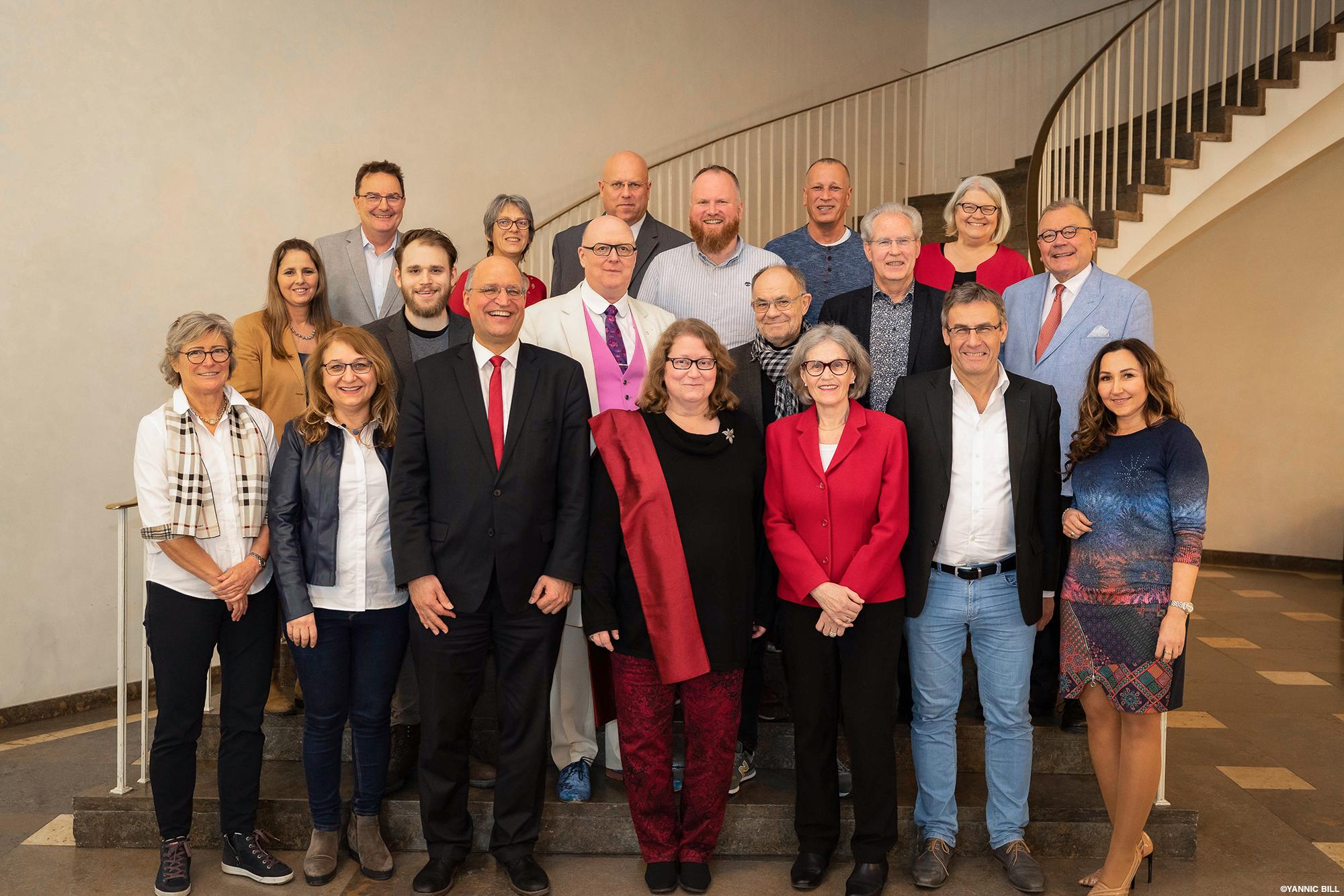 Gruppenbild der SPD-Fraktion, auf dem fast alle Stadtverordneten vertreten sind.