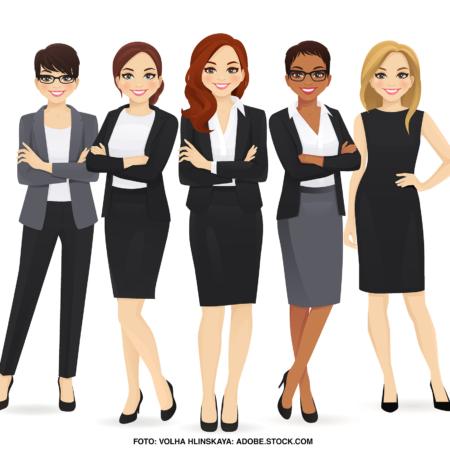 Frauen in Führungspositionen (Comic Darstellung)