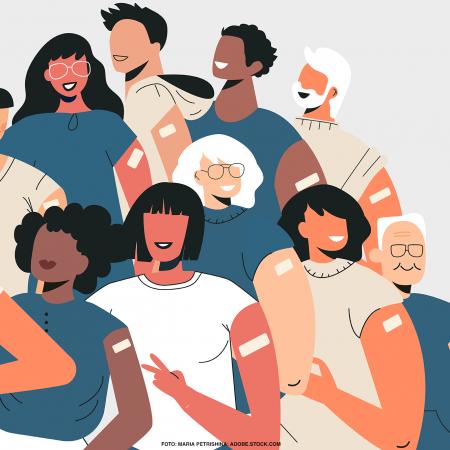 Menschen mit unterschiedlichen Migrationshintergründen, mobile Impfteams für Frankfurt