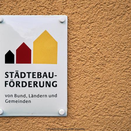 Plakette 50 Jahre Städtebauförderung