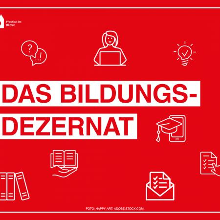 Blog ueber das Bildungsdezernat in Frankfurt. Zu sehen sind passende Piktogramme.